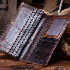 Luxury Women Men Genuine Leather Wallet Cowhide Purse Bifold Card Holder