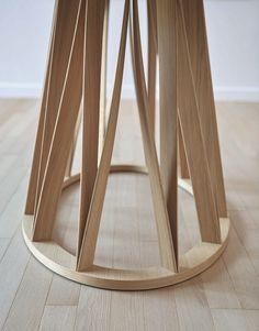 Online kaufen Acco   tisch aus holz By miniforms, ovaler tisch aus holz Design Florian Schmid, Kollektion acco