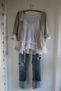 Cotton Voile Longsleeve Top Made to Order por MegbyDesign e Altered Couture, Gypsy Style, Bohemian Style, Mode Style, Style Me, Boho Chic, Cool Outfits, Casual Outfits, Look Boho