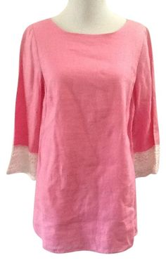 Lilly Pulitzer Nwt Linen Sz Xs Tunic. Free shipping and guaranteed authenticity on Lilly Pulitzer Nwt Linen Sz Xs Tunic at Tradesy. Lilly Pulitzer pink tunic Sz xs shoulder to shoul...