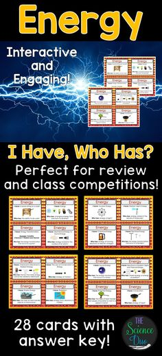 Challenge your students to learn the fundamentals of the forms of energy and transformations. This activity is a great way to engage all of your learners and create meaningful class conversations.