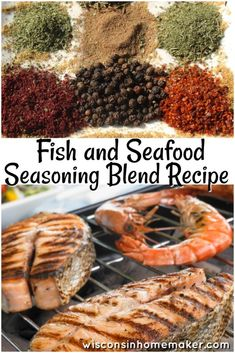 Fish and Seafood Seasoning Blend Recipe found on Wisconsin Homemaker Fish Seasoning Recipe, Seafood Seasoning, Seasoning Mixes, Grilled Salmon Seasoning, Chicken Seasoning, Homemade Spices, Homemade Seasonings, Seafood Dishes, Fish And Seafood