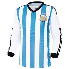 Argentine Soccer Jersey World Cup National Home Team  Easy & Unique! Make your own special look! Size : XS, S, M, L, XL, XXL (US Size) Material : 100% Polyester Color : Yellow Country of Manufacture : Made in Korea