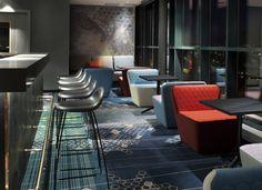 Rica Hotel Narvik Interior by Scenario Interiørarkitekter Hotel Lounge, Restaurant Lounge, Bar Lounge, Restaurant Design, Design Furniture, Rustic Furniture, Outdoor Furniture Sets, Lobby Interior, Interior Architecture