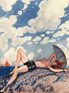 Illustration by George Pavis For La Vie Parisienne 1920s. What would pas for porn anywhere else, is just darn pretty in France.