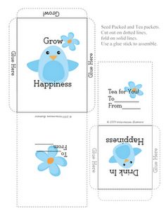 Tricia-Rennea, illustrator: Seed Packet and Tea Packet, Homemade Mother's Day gift idea, Free Spring printable Free Poster Printables, Templates Printable Free, Homemade Mothers Day Gifts, Mothers Day Crafts, Farmers Market Display, Market Displays, Diy Cadeau, Baby Shower Fun, Fun Baby