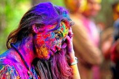 Colorful... Holi Festival Of Colours, Holi Colors, Holi Girls, Holi Pictures, Good Night Greetings, Festival Photography, India Culture, Happy Holi, Crazy Colour