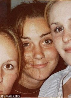 By 1998, 16-year-old Kate, pictured with friends, had finished her Duke of Edinburgh Gold award and had blossomed into one of the school's most attractive girls.