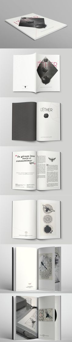 "Catalogue layout design for the exhibition ""L'éther"" http://www.behance.net/gallery/LETHER/11855135"