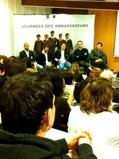 ETAPE 1 - Chartres 13/14 février 2013    Les Ambassadeurs parlent travail, formation, professionnalisme, amateurisme aux jeunes apprentis du CFA de Chartres...