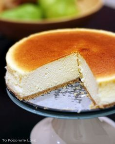 To Food with Love: Light and Creamy Japanese Cheesecake