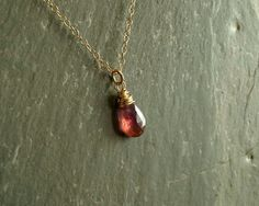 Pink Sapphire Necklace, natural sapphire pendant, white sapphires, 14K…
