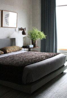 Tribeca dark and moody bedroom