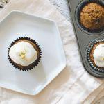Maté Carrot Cupcakes with Greek Yogurt Frosting