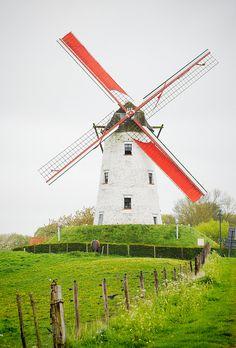 ...dans un moulin à vent hollandais...