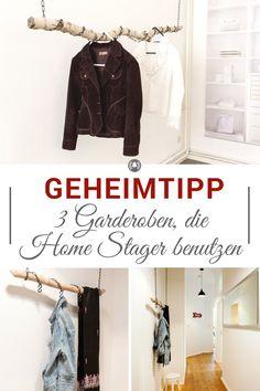 Die 3 genialen Garderoben zeigen dir, wie du in kleinen oder engen Fluren und Dielen tolle Garderoben hängen oder stellen kannst. Ein DIY, ein Hack und ein Tipp - alles dabei!