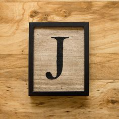 Letter J Alphabet Art Burlap Wall Decor Monogram By Laxtoyvr 20 00