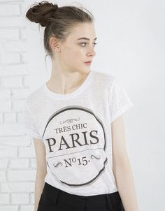 BLANCO BY INC Camiseta texto Paris