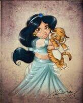 Jasmin de pequeña