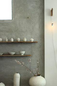 Masaki's diary Mar 2014 S Diary, Floating Shelves, Pottery, Wall, Room, Decorations, Future, Home Decor, Terracotta
