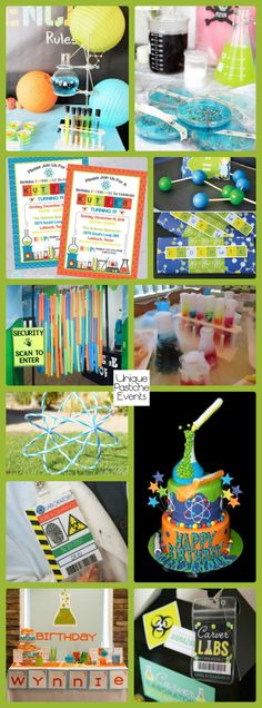 11 Kids Science Themed Party Ideas #IdeaBoard #InspirationBoard