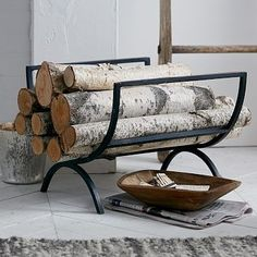 West Elm Rings Fireplace Log Holder, $99