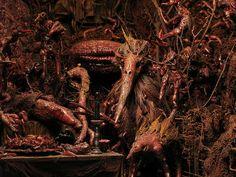 Elisandre - L'Oeuvre au Noir: Mark Powell, son univers démoniaque et ses sculptures d'enfer