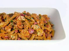 Get Giada De Laurentiis's Whole Wheat Penne with Lobster and Bacon Recipe from Food Network