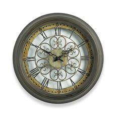 Scrollwork Wall Clock