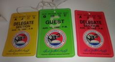 1988 Republican National Convention New Orleans -Guest and Delegate passes
