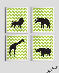 Maybe white animals on patterned background