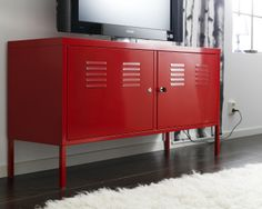 Beau PS Cabinet Red 119 X 63 Cm