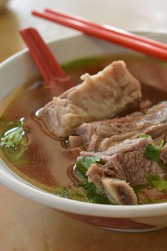Learn how to make bak kut teh, a pork-rib soup from Singapore that's often eaten for breakfast, from a place that's been making it since the 1970s.