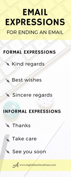 Improve your writing skills and emails by using these 45 common email expressions. Click the link below to learn more useful vocabulary English Vocabulary Words, English Phrases, English Words, English Grammar, English Tips, English Lessons, Learn English, Email Writing, Business Writing