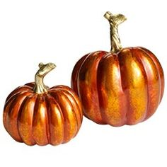 Pier1 metallic pumpkins...I have one each and they are so cute