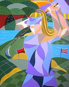 Female Golfer Fine Art Giclee Photographic Print at Artist Rising. Artist Rising is the premier destination for discovering original art, fine art and photography prints, and limited edition art by living artists. Cubist Paintings, Abstract Face Art, Golf Images, Golf Art, Art Deco Posters, Golf Gifts, Art Prints For Sale, Green Art, Ladies Golf