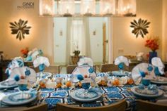 A Syrian Thanksgivukkah Table from @TheJewishHostess Blogger