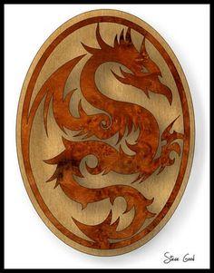 Scrollsaw Workshop: Dragon Plaque Scroll Saw Pattern.:  a Dragon is a Dragon!