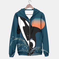 Orca  #orca, #whale, #animal, #hoddie,