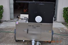 #topdogcarts Single hand wash sink, propane tank compartment door on a TD 18 model ho dog cart
