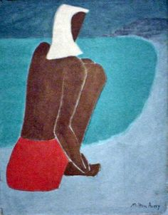 milton avery | March on the Beach , 1947. Milton Avery (1885-1965). Oil on canvas, 36 ...