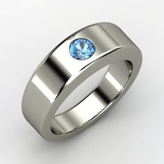 Sterling Sliver Men's Blue Topaz - Kyle's Ring