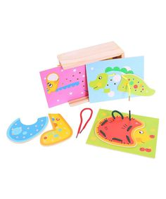 This Lacing Animals Card Set by Bigjigs Toys is perfect! #zulilyfinds