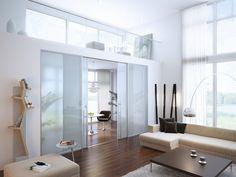 Стеклянные перегородки в интерьере - прозрачный свет и воздушность пространства.