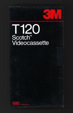 "typo-graphic-work:  ""3M, Scotch Videocassette, T120  """