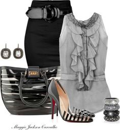 The shirt and the skirt <3... but the shoes I wouldn't be caught dead in. Haha...