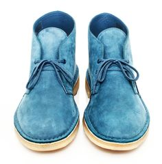 Modern Blue Suede Shoes