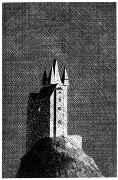 The Haunted Castle From Six Fairy Tales from The Brothers Grimm. 1969. Etching by David Hockney. (one of my all time favourites)