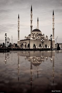 The central mosque in Grozny, Chechnya, Russia