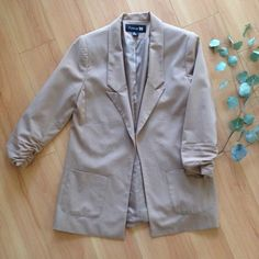 Dusty Pink Blazer Size Small, dusty pink Forever 21 Blazer. Great condition. Worn a couple of times in the office to meetings. Forever 21 Jackets & Coats Blazers